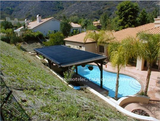le chauffage solaire piscine blog domotelec. Black Bedroom Furniture Sets. Home Design Ideas